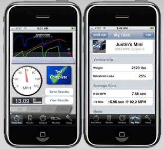Illustration for article titled iPhone Apps We Like: Dynolicious Car Performance Meter