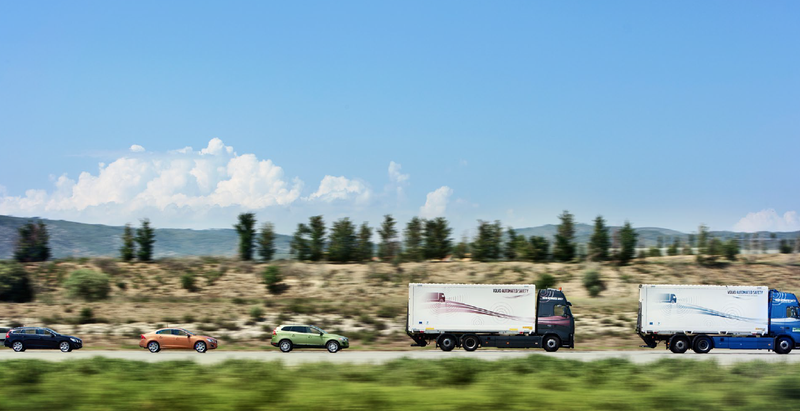 Illustration for article titled A Convoy of Autonomous Trucks Just Drove Across Europe