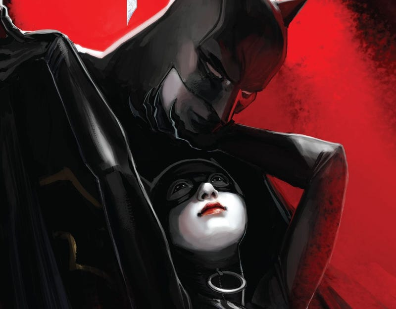 The cover to Batman #14 illustrated by Stephanie Hans.