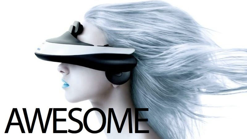 Illustration for article titled Sony's Wearable 3D Home Theater Sits on Your Face