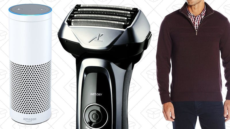 Illustration for article titled Today's Best Deals: Amazon Echo, Sweaters, Electric Shavers, and More