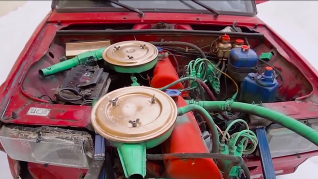 580eb04a98 Of all the wacky car experiments that the popular Russian YouTube channel  Garage 54 ENG has conducted, prepare to see the Magnum Opus: a Lada with  its ...