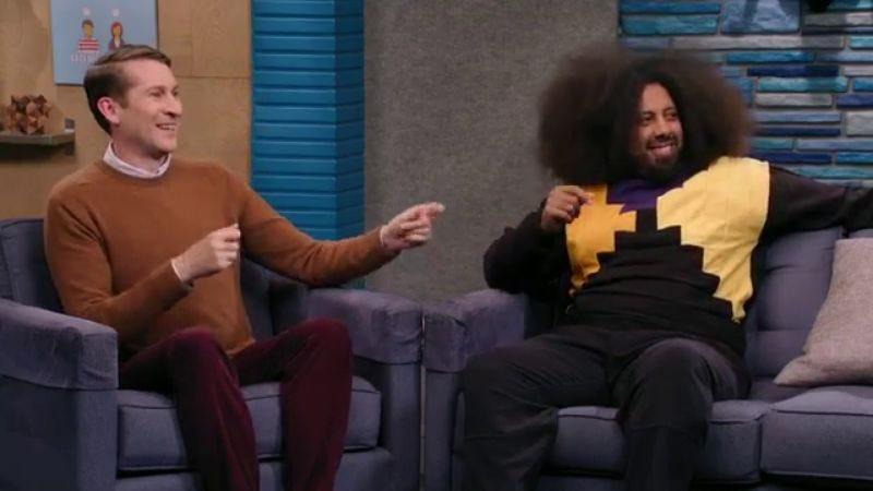 Scott Aukerman (left), Reggie Watts