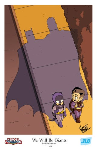 Illustration for article titled JL8 HeroesCon Exclusive Poster