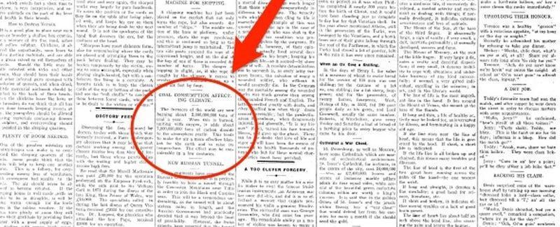 Illustration for article titled La extraordinaria precisión con la que un periódico predijo hace 106 años los problemas del presente
