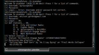 Illustration for article titled Pianobar is a Flash-Free Pandora Player Inside Your Terminal