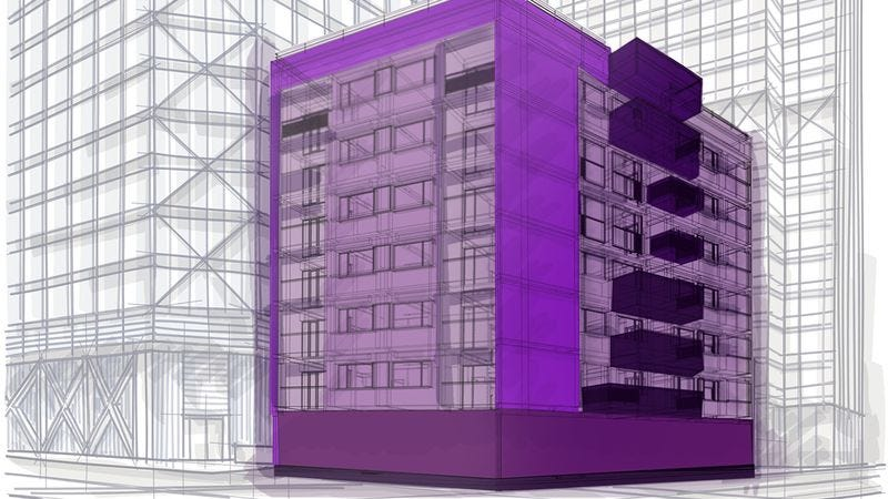 Illustration for article titled Whoa: Dubai Just Announced Plans To Build The World's First Purple Building