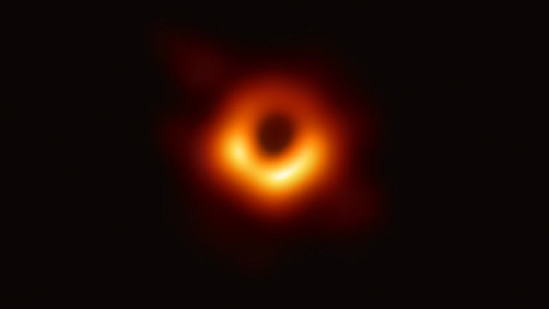 Illustration for article titled First-ever image of black hole prompts rampant nihilism, pleas to be consumed