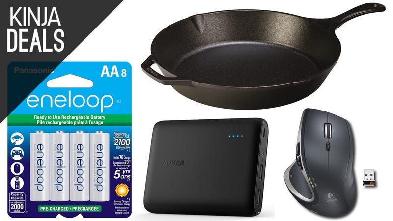 Illustration for article titled Today's Best Deals: Popular Batteries, MX Mouse, Cast Iron Skillet, and More