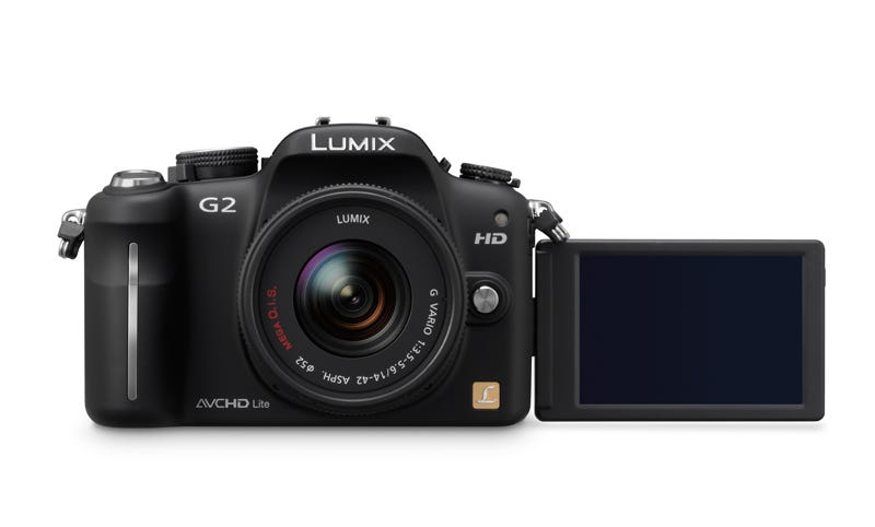 Illustration for article titled Panasonic Lumix DMC-G2 and G10 Micro Four Thirds Cameras: G2 Gets Touchscreen Control, Both Get HD Video