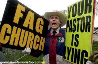 Illustration for article titled Alternate approach to Fred Phelps' impending death