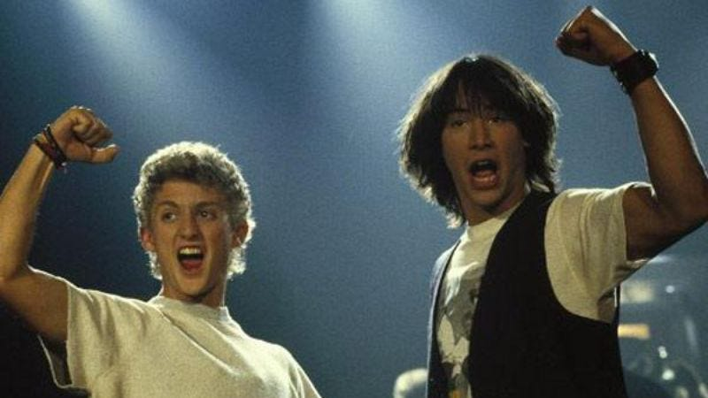 Illustration for article titled Bill And Ted sequel is still in the works, still renders the first two movies all but pointless