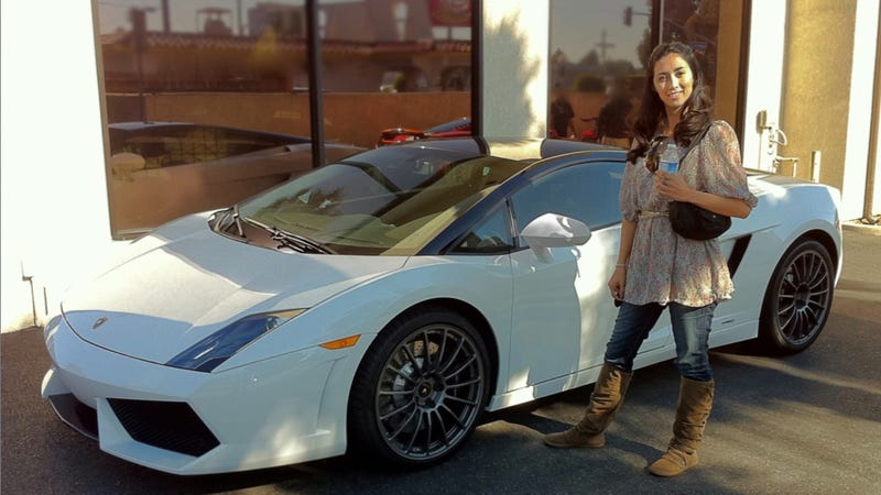 Illustration for article titled What happens when you give this girl the keys to your Lamborghini?