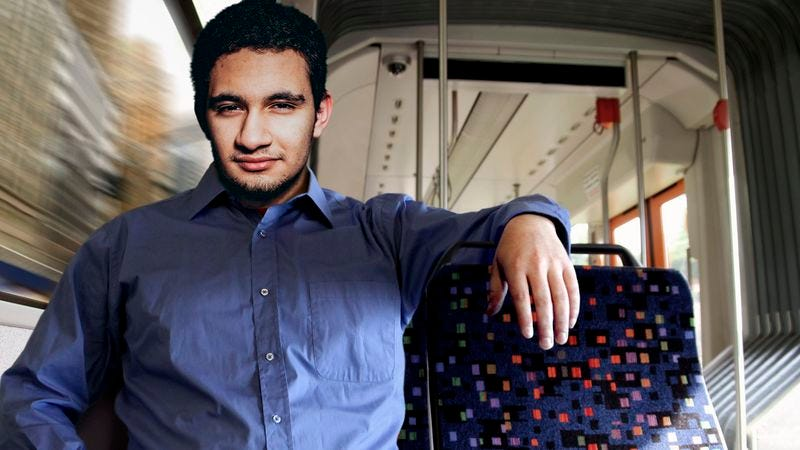 Illustration for article titled Arab-American Actually Kind Of Enjoys Always Having 2 Bus Seats To Self