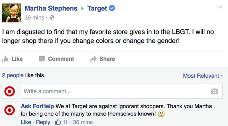 Illustration for article titled Man Pretends to Be Target Rep, Trolls Angry Idiots on Facebook All Day