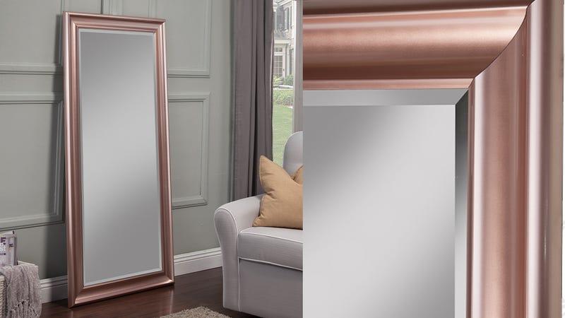 Sandberg Rose Gold Full Length Leaner Mirror | $100 | Walmart