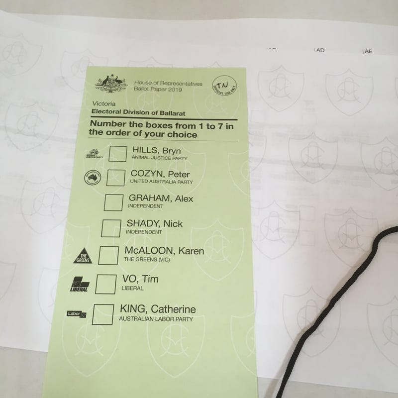 lower house ballot form