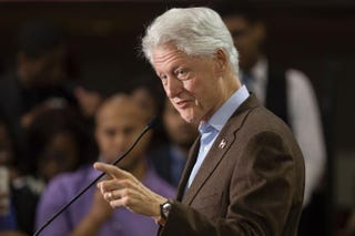 Former President Bill Clinton speaks during a Get Out the Vote event at Paul Quinn College in Dallas on Feb. 22, 2016.LAURA BUCKMAN/AFP/Getty Images