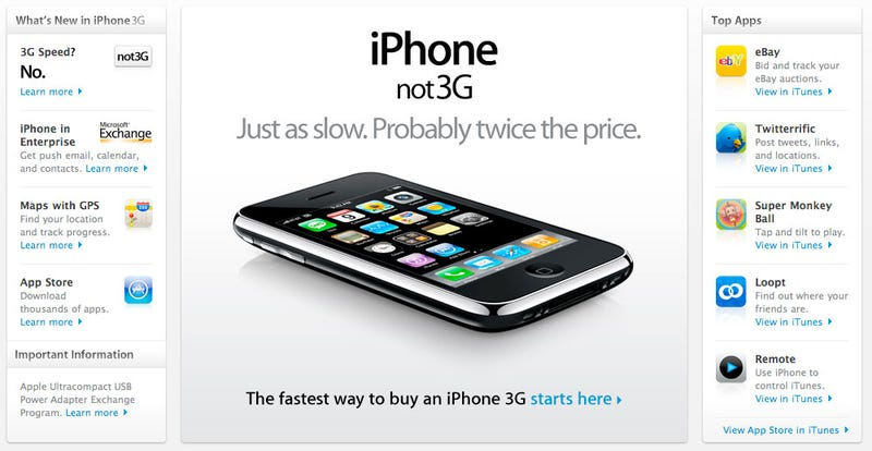 Illustration for article titled Chinese iPhone 3G Won't Have 3G or Wi-Fi