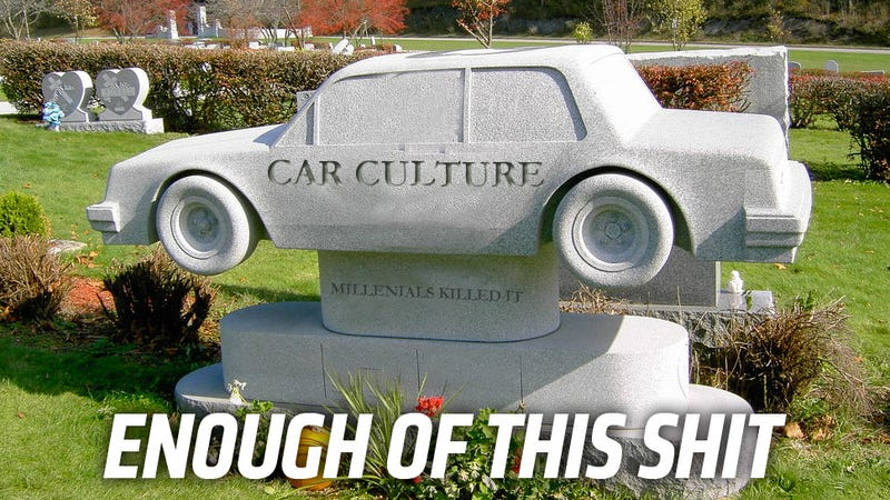 Illustration for article titled Let's All Agree On These Three Things And Never Write About How Car Culture Is Dying Again