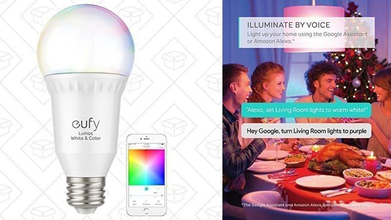 Eufy Lumos Smart Bulb - White & Color   $30   Amazon