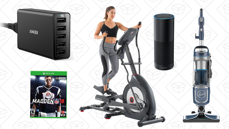 Illustration for article titled Thursday's Top Deals: Schwinn Elliptical Machine, Anker USB Port, Hoover Vacuum, Madden 18, and More