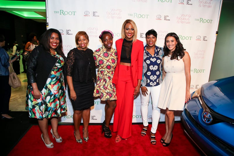 The Root Managing Editor Danielle Belton; Young, Fabulous and Female panelists Caralene Robinson,  MaameYaa Boafo, Lauren Maillian and Jovian Zayne; and The Root Publisher Donna ByrdDerrick Davis