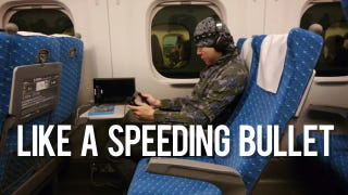 Illustration for article titled Yes, the Wii U Also Works on Japanese Bullet Trains