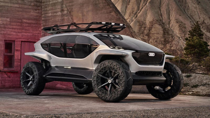 Illustration for article titled The Audi AI:TRAIL Quattro Concept Is The Sci-Fi Off-Roader Of Tomorrow