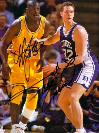 Illustration for article titled Why Did The Dream Team Choose Laettner Over Shaq?