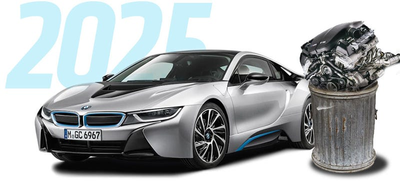 Illustration for article titled BMW To Phase Out Combustion Engines In 10 Years: Report