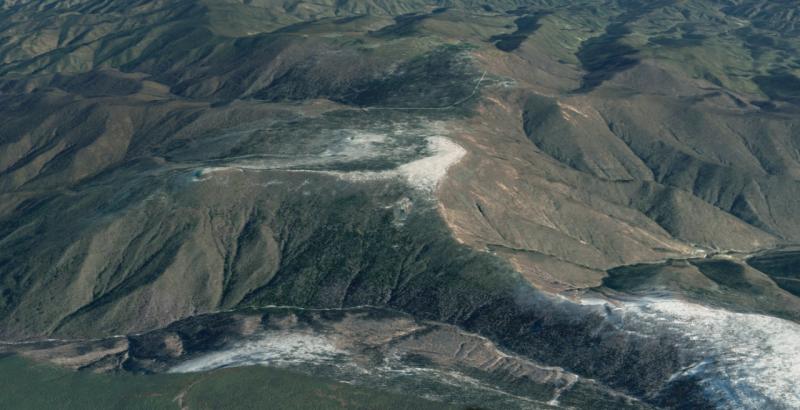 El monte Mantap en Corea del Norte