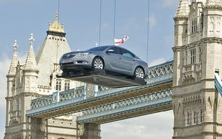 Illustration for article titled Vauxhall Insignia Invades London In Elaborate Marketing Ruse