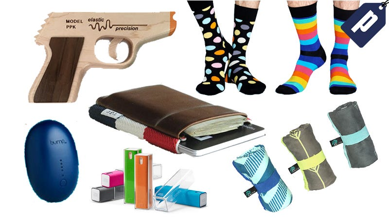 Illustration for article titled Get Your Stocking Stuffers Now: Chargers, Wallets, Rubber Band Guns & More