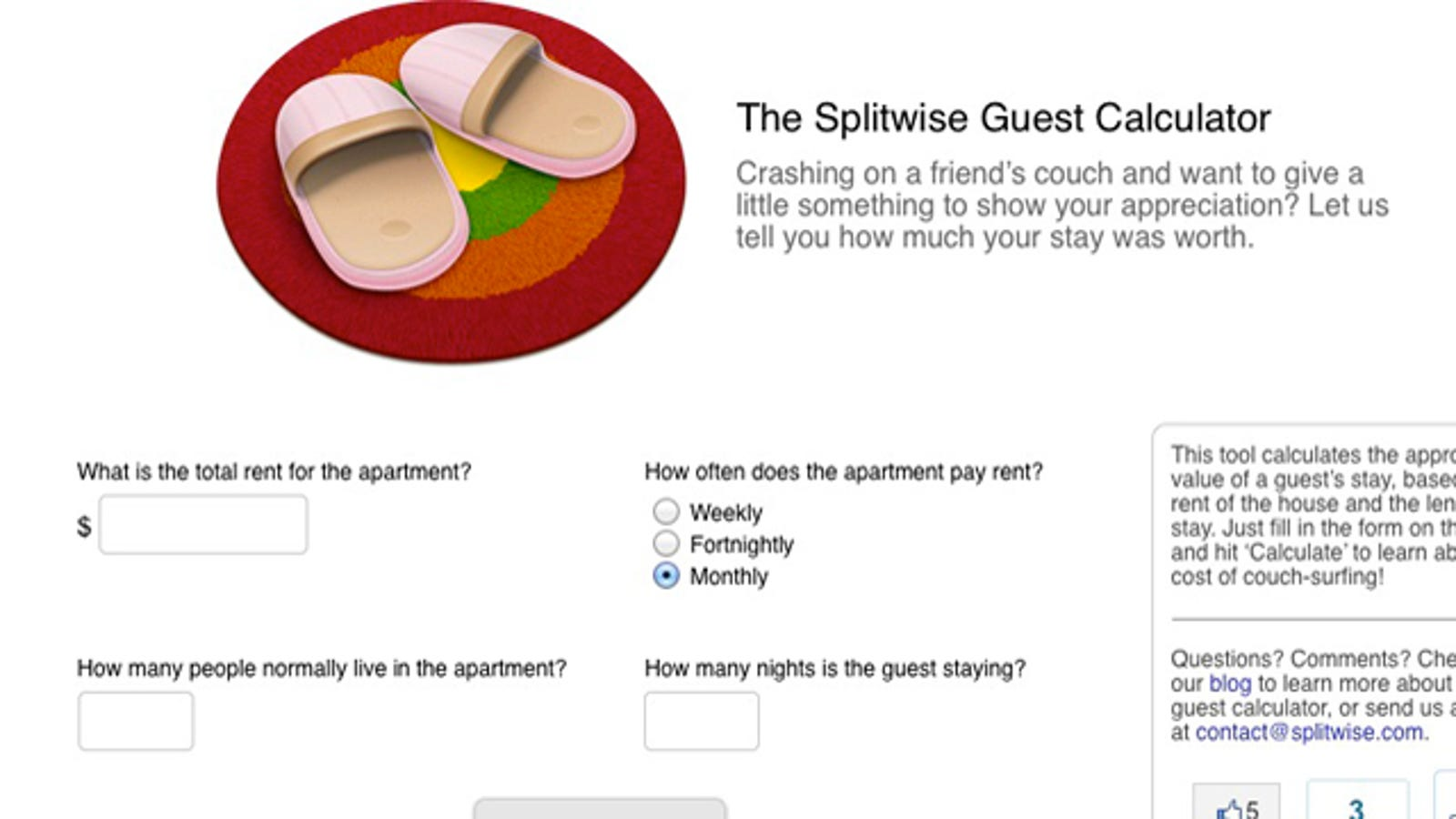 The Splitwise Guest Calculator Tells You How Much to Chip In