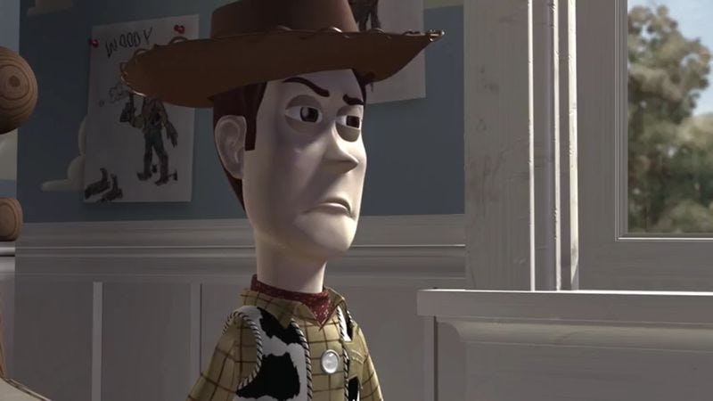 Illustration for article titled Woody doesn't play nice in this menacing, R-rated Toy Story trailer