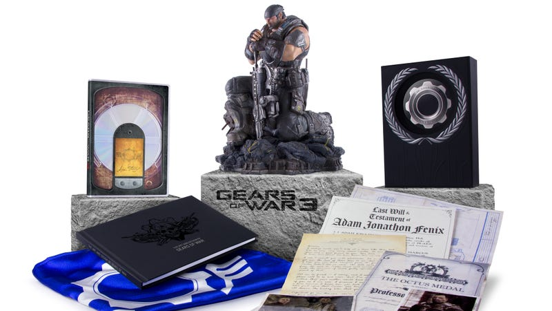 Gears of war 3 limited and epic edition extras revealed.