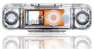 Illustration for article titled Focal Aquatune Speaker Is a Lucite iPod Nano Shark Cage