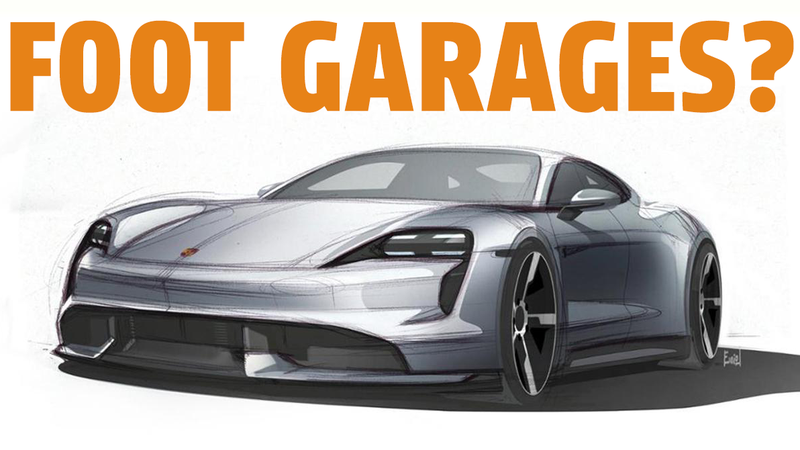 Illustration for article titled The Porsche Taycan Was Designed With Something Called 'Foot Garages'