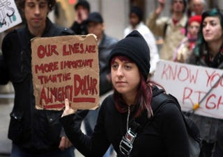 Occupy Chicago protesters (Getty Images)