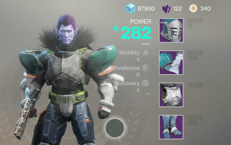 My Titan does not look happy about my fashion choices.