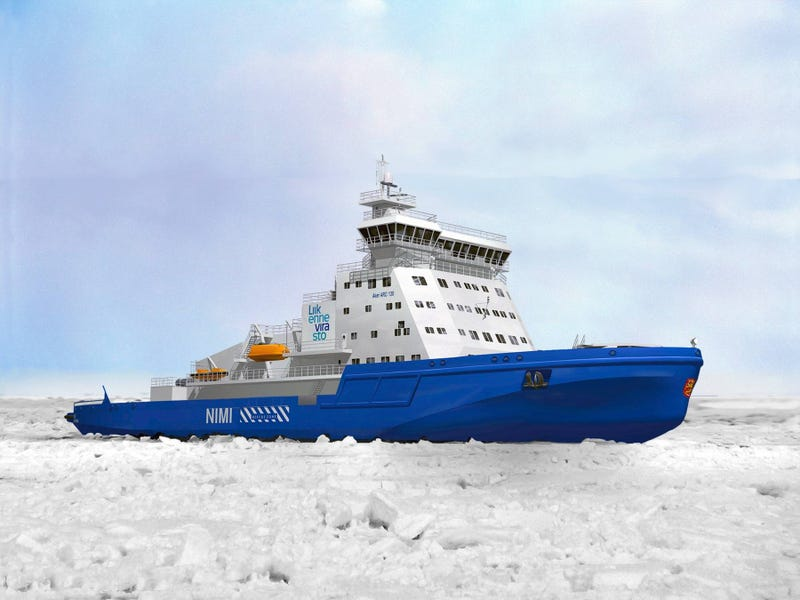 Illustration for article titled This Enormous New Icebreaker Ship Is Flat-Out Incredible