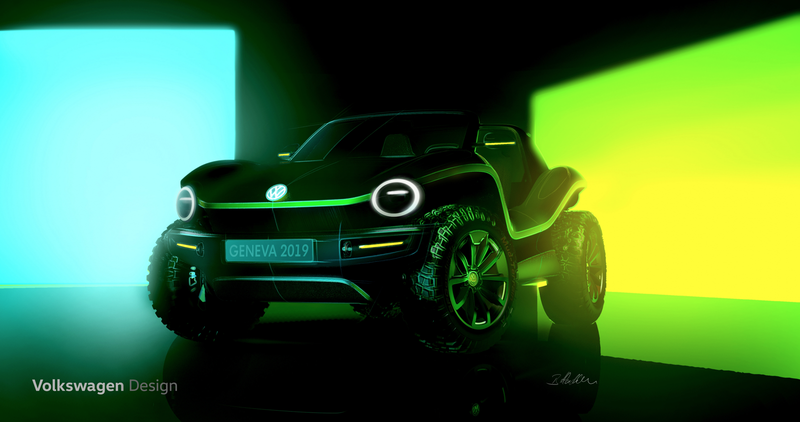 Illustration for article titled Volkswagen Teases Electric Dune Buggy Concept and Hints at Even Bigger News