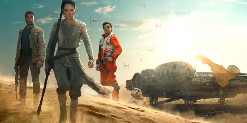 Illustration for article titled Una copia HD de The Force Awakens arrasa en redes torrent dos semanas antes de su estreno