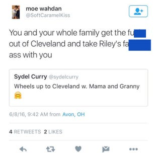 Tweet referencing Steph Curry's little girl that got Twitter user firedTwitter