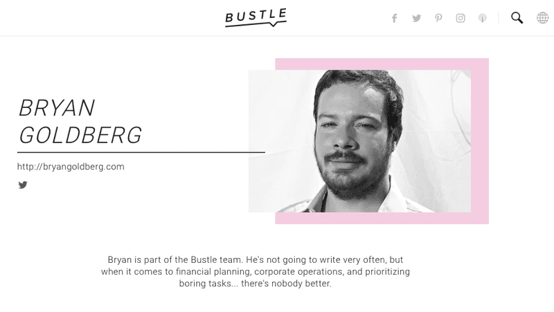 Illustration for article titled Hey, Remember How Much Bustle Founder Bryan Goldberg Sucks?