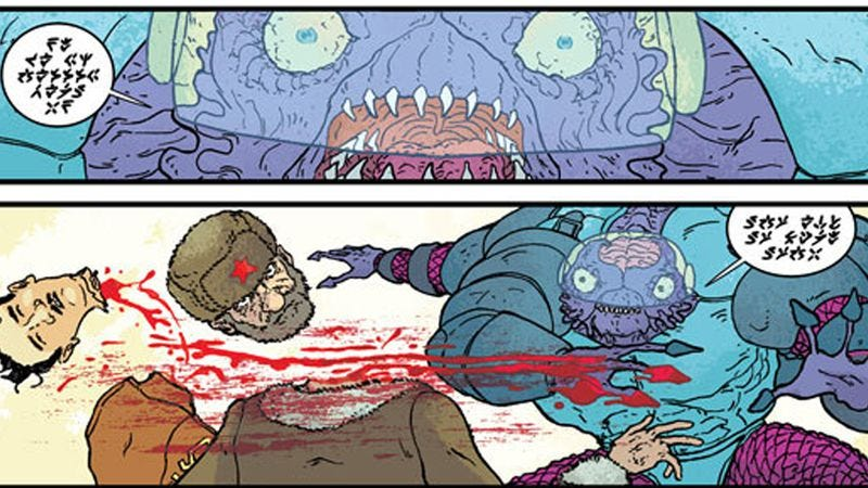 Illustration for article titled Mad scientists reach for the stars, kill everything in The Manhattan Projects #5