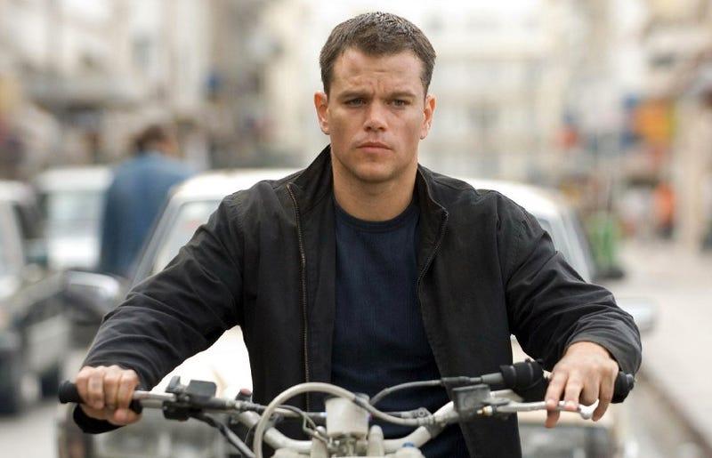 Matt Damon on a Honda Cota 4RT in The Bourne Ultimatum. (Photo Credit: Bourne Ultimatum screengrab)