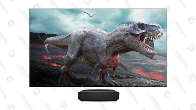 That Is One Big Pile of Savings: The Hisense L5 100  4K Laser TV Projector Is $1,600 off at BuyDig
