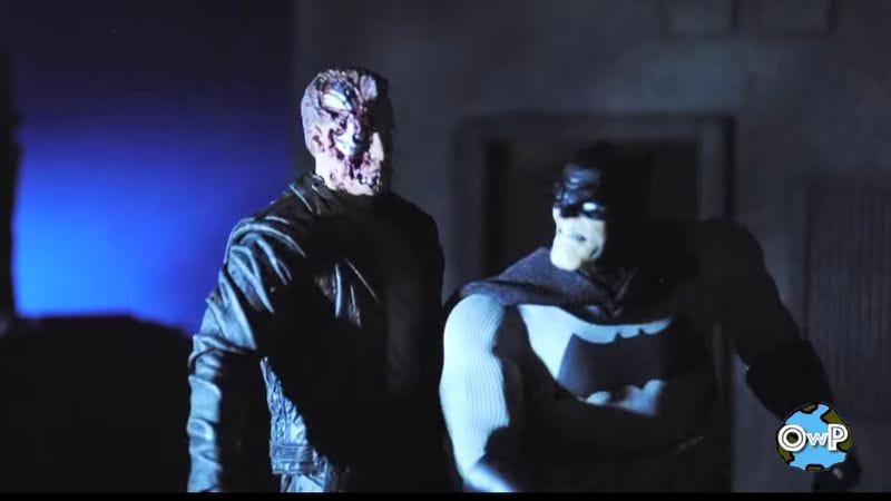 Illustration for article titled Stop-motion Batman vs. Terminator is better than Ben Affleck Batman vs. Superman